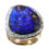 14k White Gold Ring with a Dark Blue Boulder
