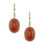 14kt Yellow Gold Shepherd's Hook Earrings with Red Coral and Diamonds