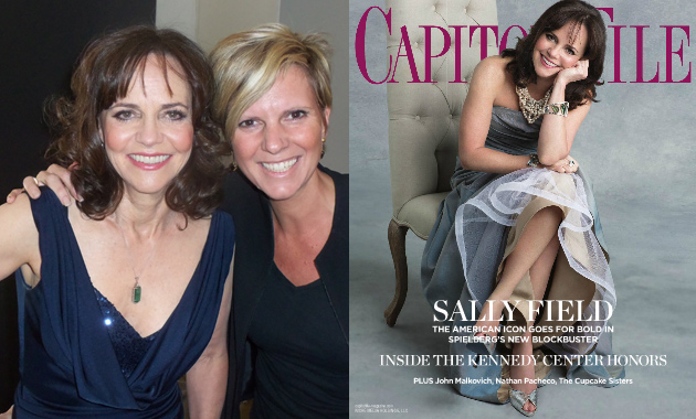 Sally Field and Wendy Adeler at Capitol File cover shoot