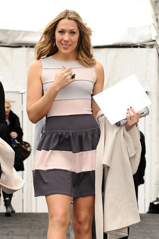 Colbie Caillat at NY Fashion Week wearing an Adeler Jewelers onyx & diamond ring