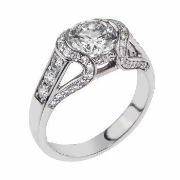 diamond engagement ring in platinum from Adeler Jewelers