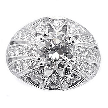 Big domed diamond engagement ring